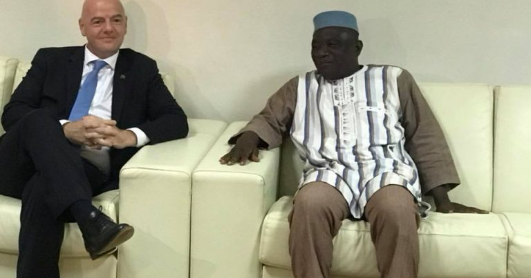 SEJOUR DU PRESIDENT DE LA FIFA GIANNI INFANTINO AU BURKINA FASO